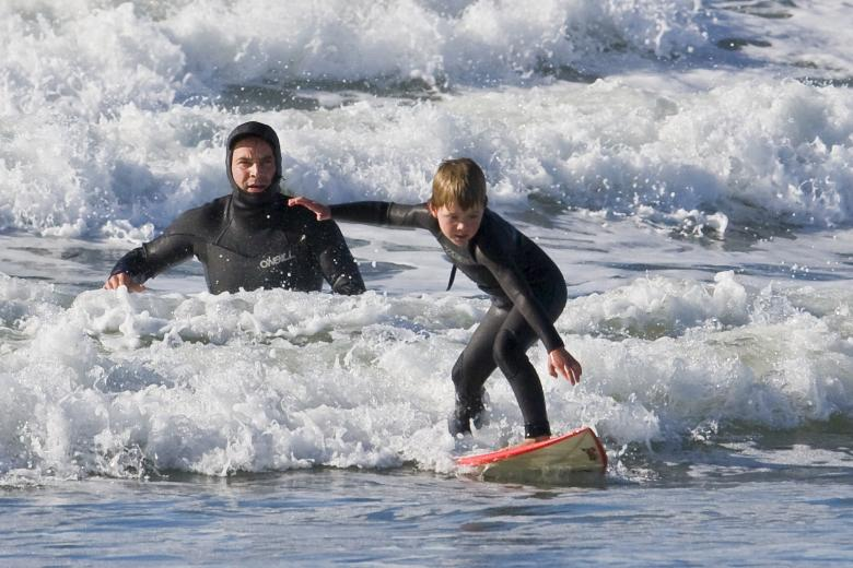 Surfing lessons in pembrokeshire, wales